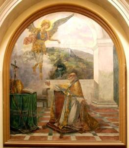 San Catello: tempera del maestro Vincenzo Galloppi - 1915 (Cappella S. Michele - Chiesa Parrocchiale del SS. Salvatore di Scanzano - Castellammare di Stabia)