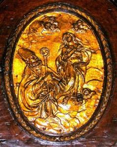 San Catello: particolare di intaglio ligneo (Chiesa di San Giacomo Maggiore - Castellammare di Stabia)