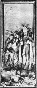 San Catello: una vecchia foto di uno stucco di Raimo di Miano -1868 (presente nella volta della chiesa del Gesù di Castellammare di Stabia)