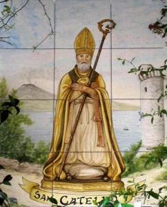 """San Catello: edicola votiva di recente fattura (p.zza """"Orologio"""" - Castellammare di Stabia)"""