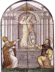 San Catello: Maiolica del sec. XIX (duomo di Castellammare)