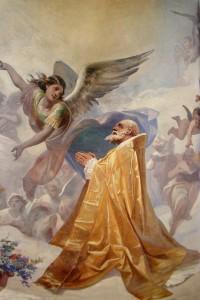 San Catello: la gloria di San Catello (particolare), duomo di Castellammare (V. Paliotti, 1895)