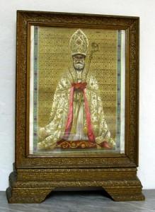 San Catello: immagine del Santo Patrono e cornice coeva (di fattura non anteriore al maggio 1912)