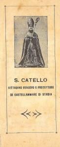 San Catello: immagine monocromatica (Tipografia Lanzaro - 1950)