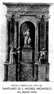 San Catello: cartolina, anni '30 progetto dell'altare del Faito. Disegno del prof. Virgilio (immagine gentilmente fornita da Maria Francesca Ruggiero).
