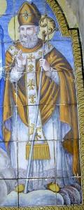San Catello: particolare di edicola votiva (Santuario di Madonna della Libera - Castellammare di Stabia).