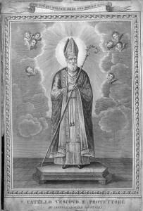 San Catello: rara incisione risalente al 1841 (gentilmente concessa dal sig. Gaetano Fontana).