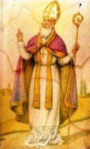 San Catello: immaginetta votiva (prima metà del XX secolo).