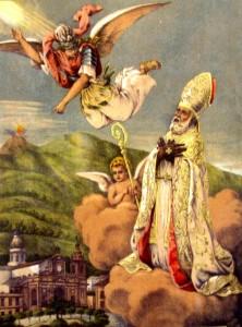 San Catello: litografia degli inizi del secolo XX (titolo: S. Catello sul monte Gauro).