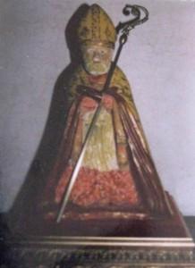 San Catello: statua artigianale, opera dell'artista stabiese Catello Ruoppolo (foto d'archivio Claudio Ruoppolo).