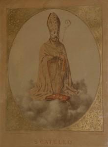 Rara immagine di San Catelo (su gentile concessione del sig. Enzo Cesarano).