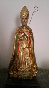 San Catello: statuetta di fattura locale (immagine gentilmente concessa dal sig. Lello Palumbo).
