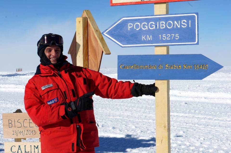 Lo stabiese Corrado Leone, lascia traccia di Castellammare in Antartide.
