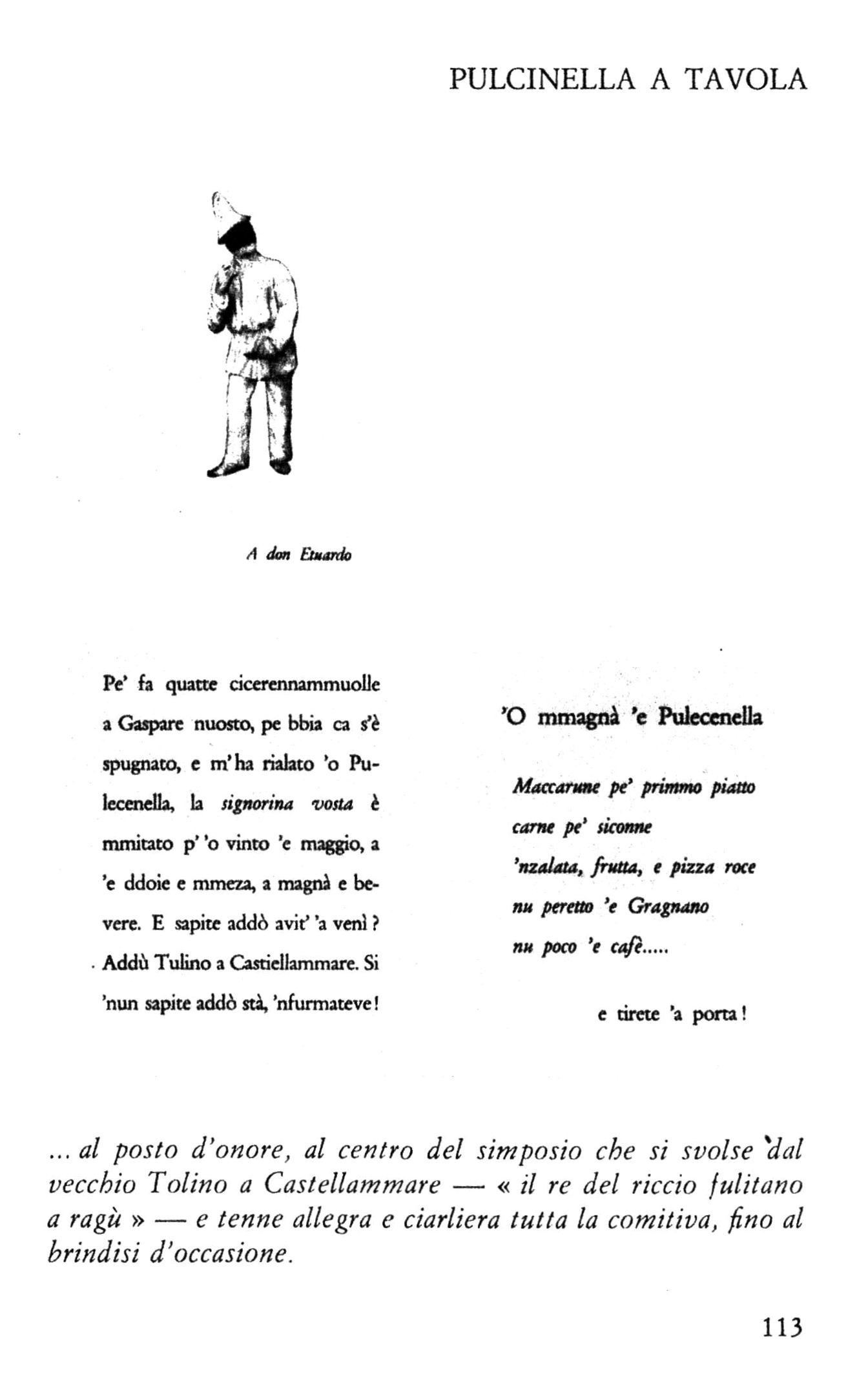 La pagina 113 del libro 'o Canisto