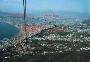 Falesia di Castellammare, vista dalla Funivia per Monte Faito