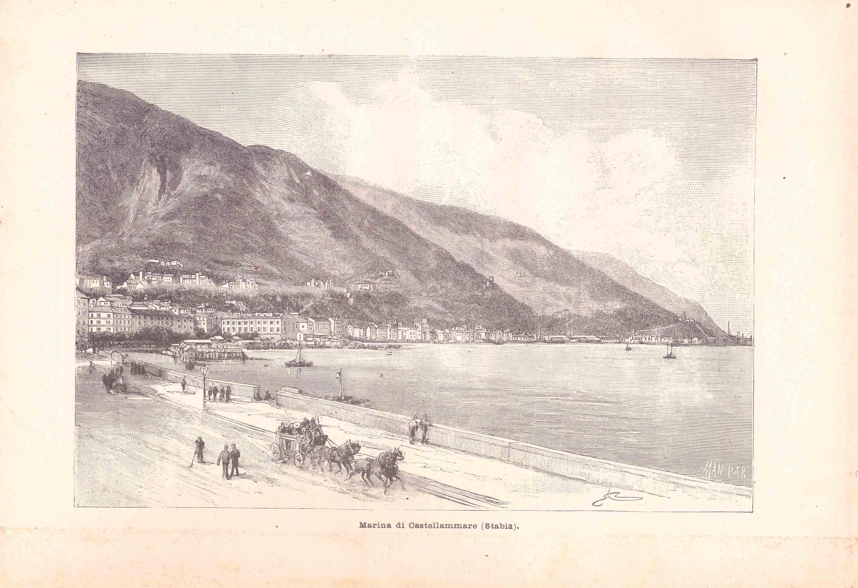 Marina di Castellammare (Stabia) - Anno 1896