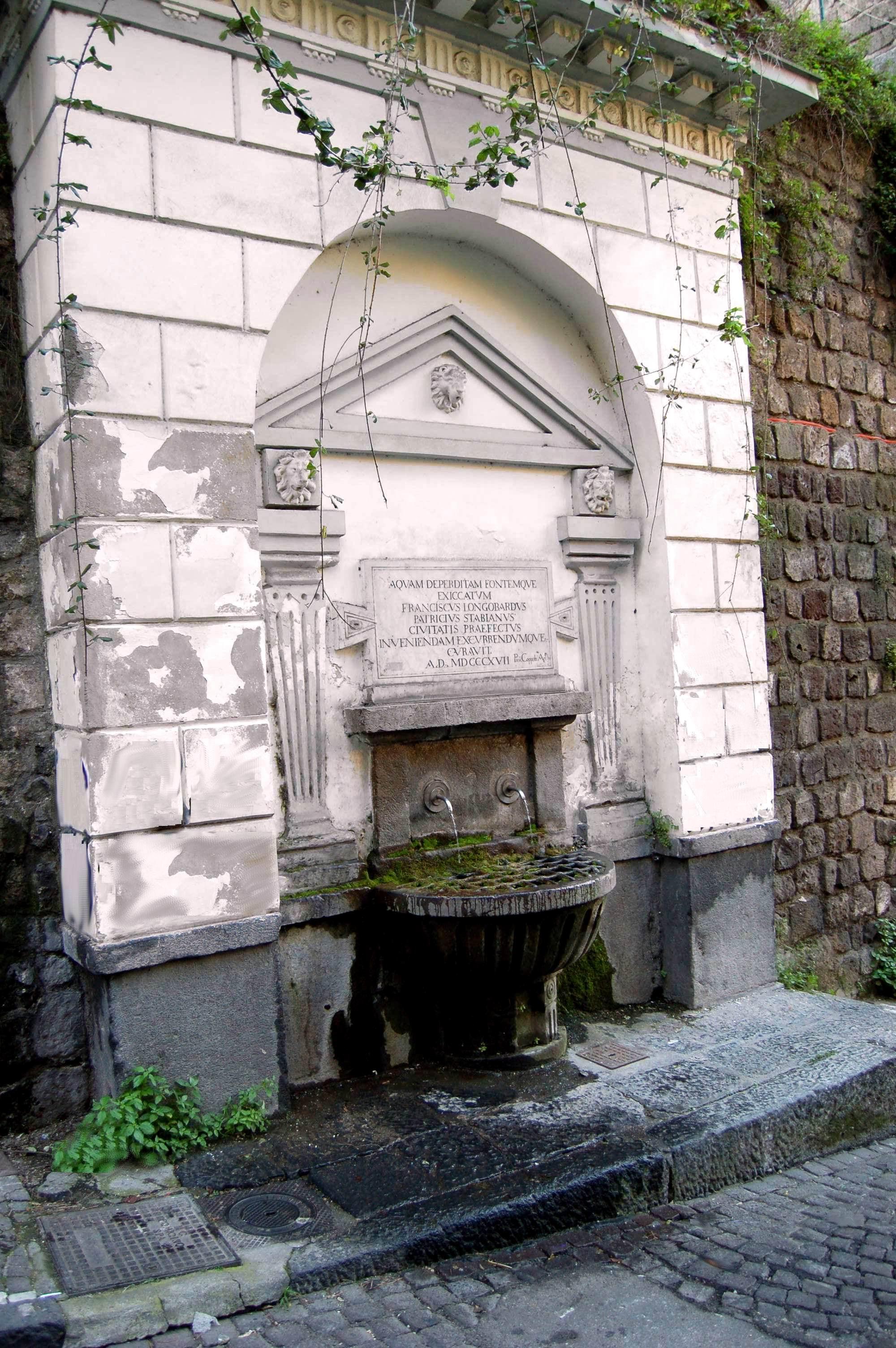 La fontana di San Giacomo (foto M. Cuomo)