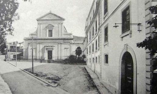 Chiesa del Sacro Cuore di Scanzano (immagine d'epoca)