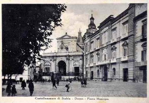Duomo in piazza Municipio, Cartolina di Giuseppe Zingone