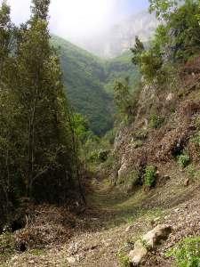 Il primo tratto del sentiero
