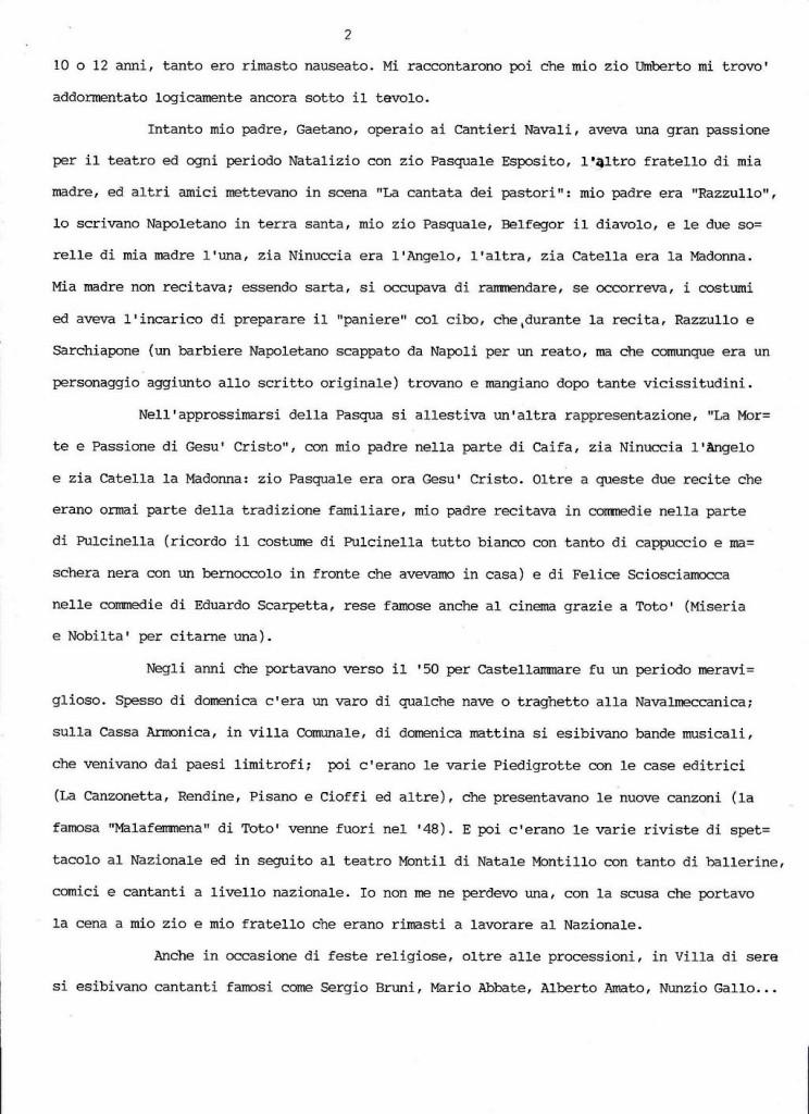 Peppe Cuomo dattiloscritto 2
