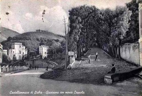 Quisisana con monte Coppola, cartolina collezione Giuseppe Zingone