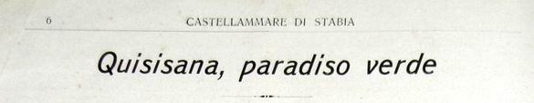 Quisisana, paradiso verde (stralcio n. 1)