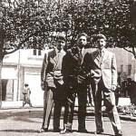 1958 Francesco Cabianca, Beppe Cuomo e Roberto Cannavale in piazza Municipio