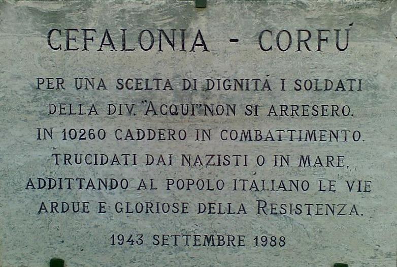 Eccidio di Cefalonia (lapide commemorativa)