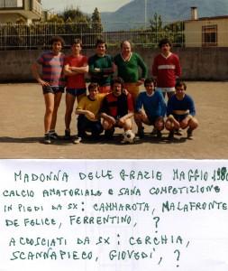 1980: quando giocare al calcio era solo sano divertimento (foto concessa dal sig. Alfredo De Felice)