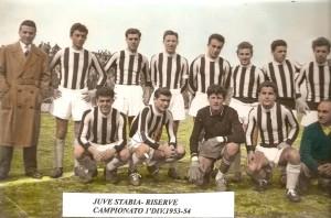 Juve Stabia anno 1953 squadra delle riserve (foto concessa dal sig. Giovanni Ferrara portiere della squadra)