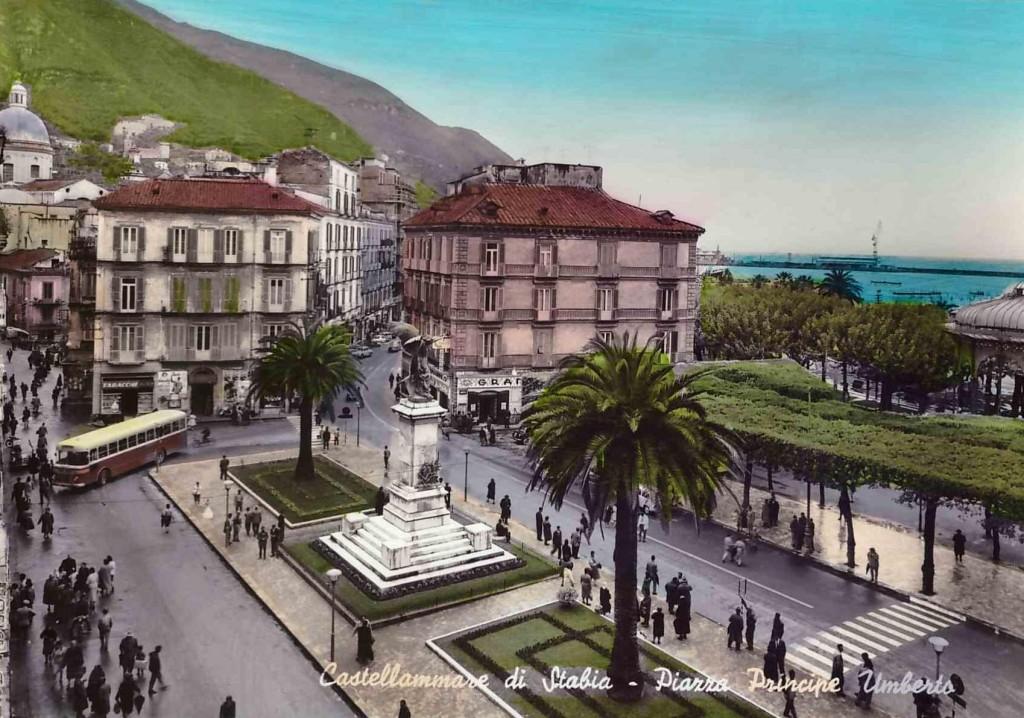 """piazza """"Monumento"""" (cartolina acquerellata)"""