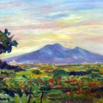 Il Vesuvio dalla campagna