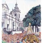 San Catello in processione