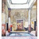 Villa romana di San Marco (pittura del maestro Umberto Cesino)