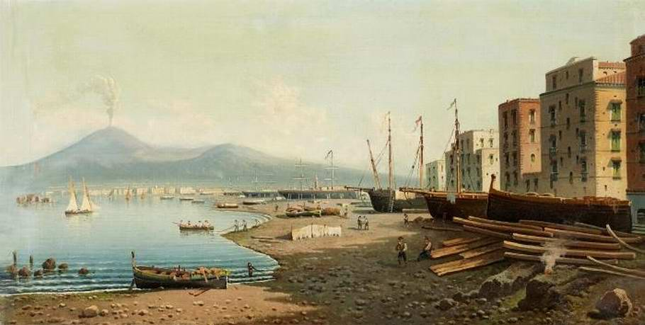 Ansicht von Neapel mit Vesuv