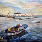 Barca con pescatore