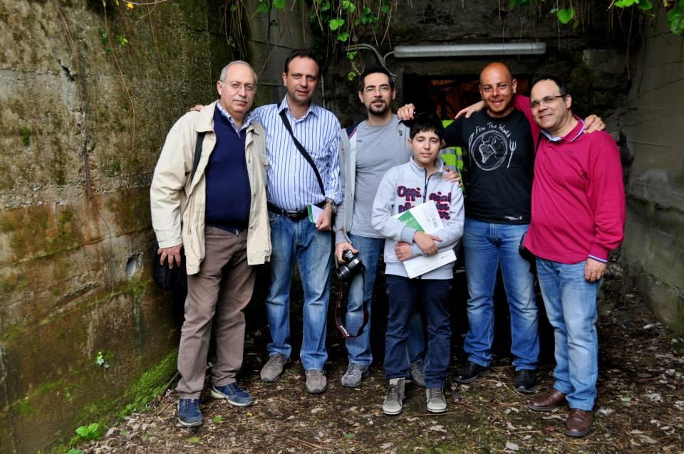 """La Redazione di liberoricercatore alla """"Grotta di San Biagio (foto Elio Dattero)"""