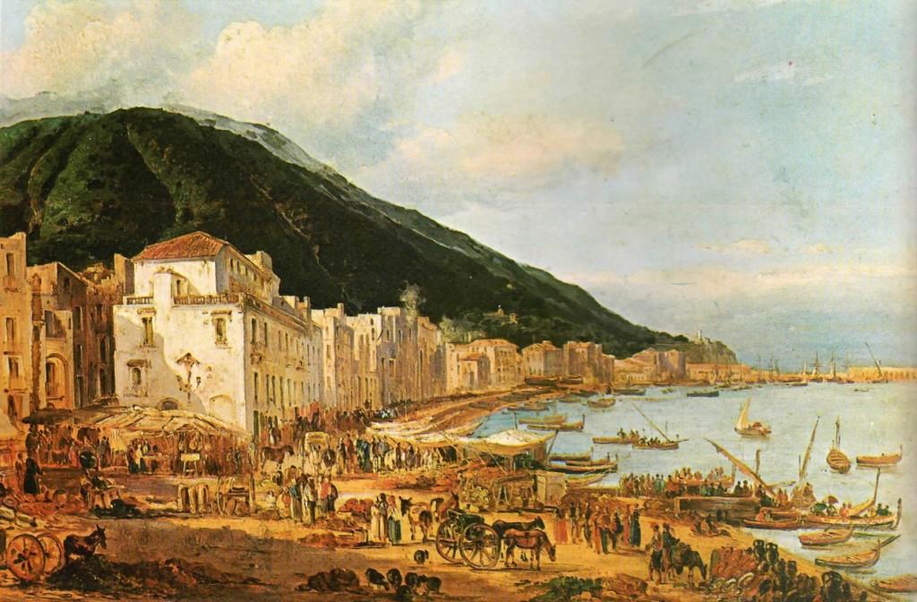 Il mercato a Castellammare (Giacinto Gigante - XIX sec.)