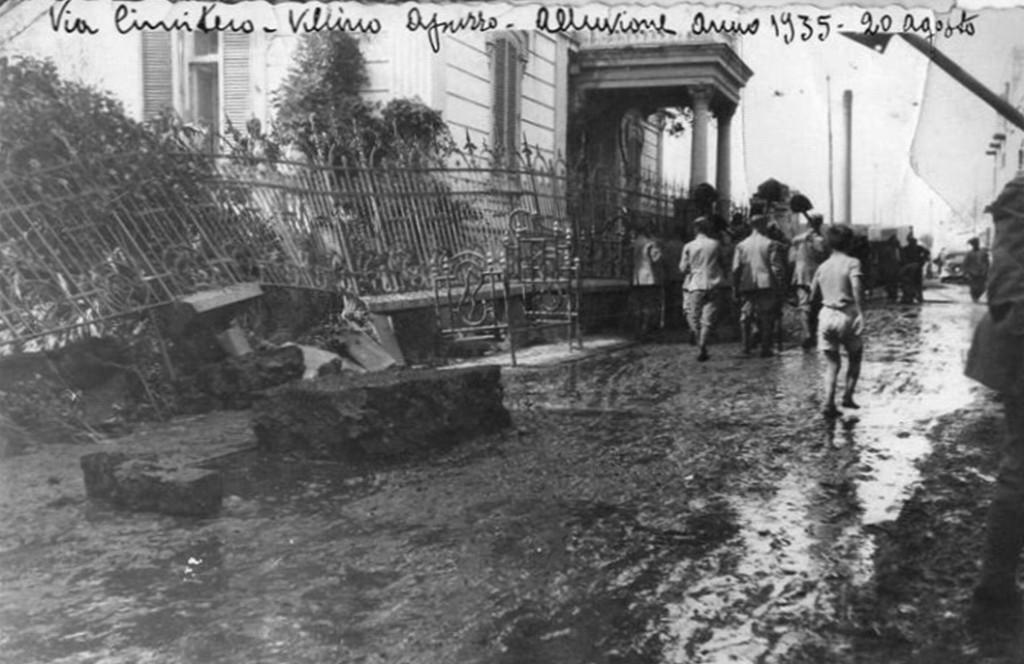 Alluvione del 20 agosto 1935 (Via Cimitero - Villino Apuzzo)