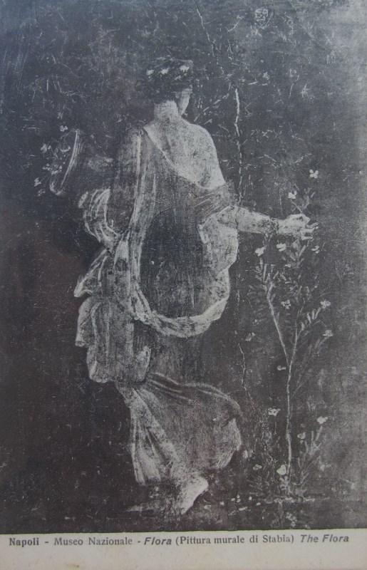 Fcartolina dell'affresco che si trova al Museo Nazionale di Napoli, proprietà Giuseppe Zingone
