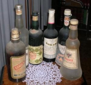 Ricordi impolverati, liquoei anni '40 e '50. Immagine tratta dal web