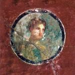 Tondo con busto di giovane donna, I sec d.C.