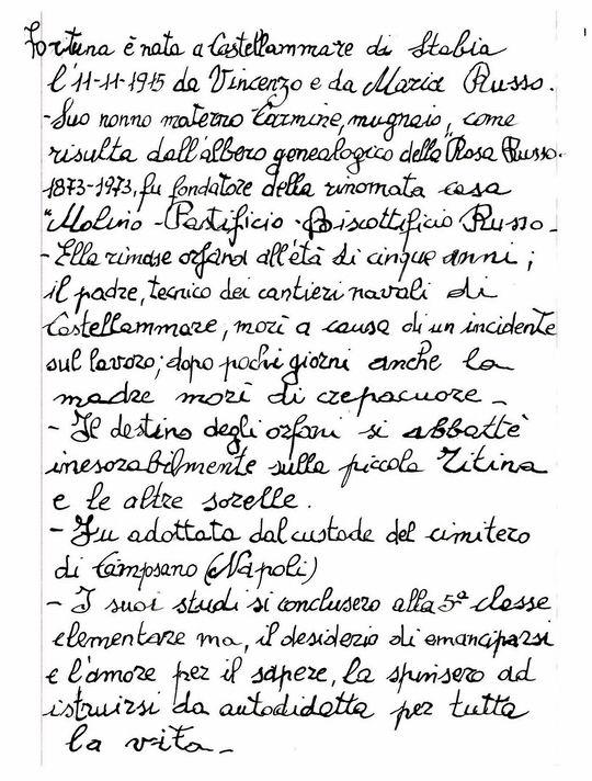 Breve Biografia a cura di Silvestro Migliorini