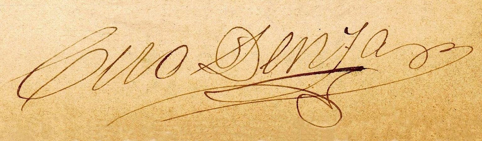 Ciro Denza - la firma