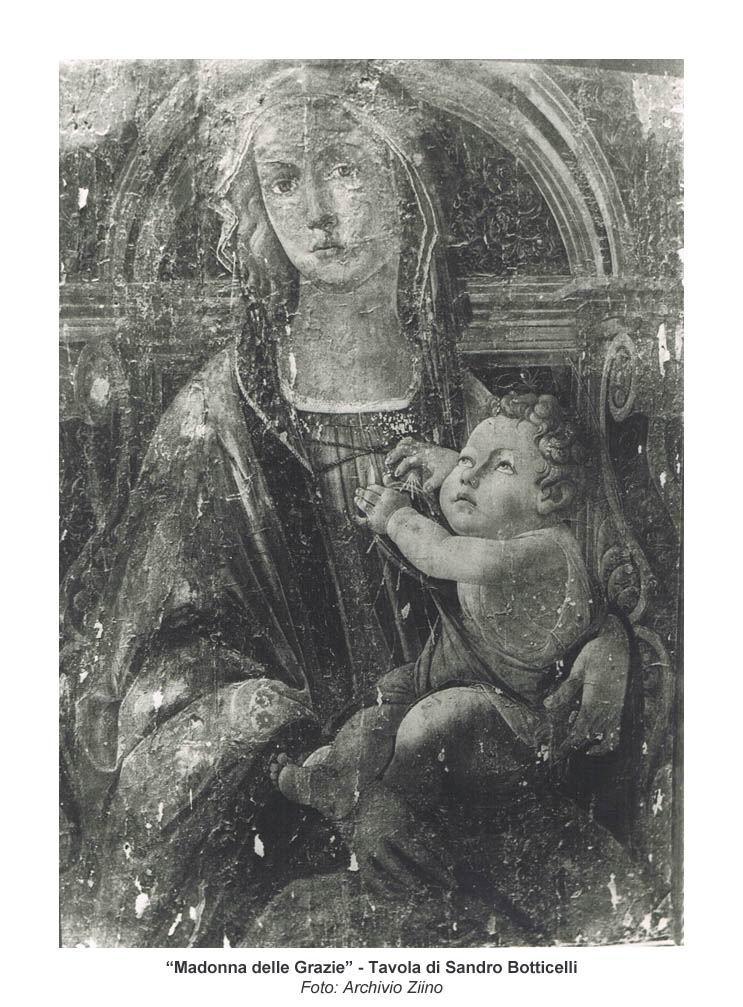 """La """"Madonna delle Grazie"""" del Botticelli (Archivio Ziino)"""