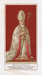 San Catello (antico santino indorato)
