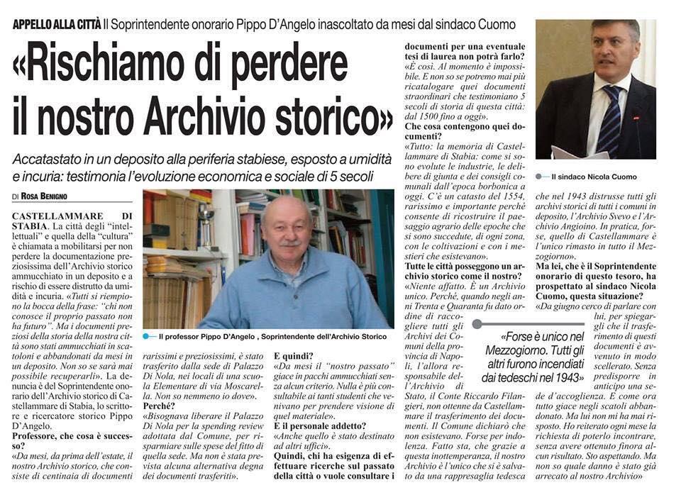 Articolo del prof. D'Angelo