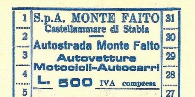 Ticket per Faito