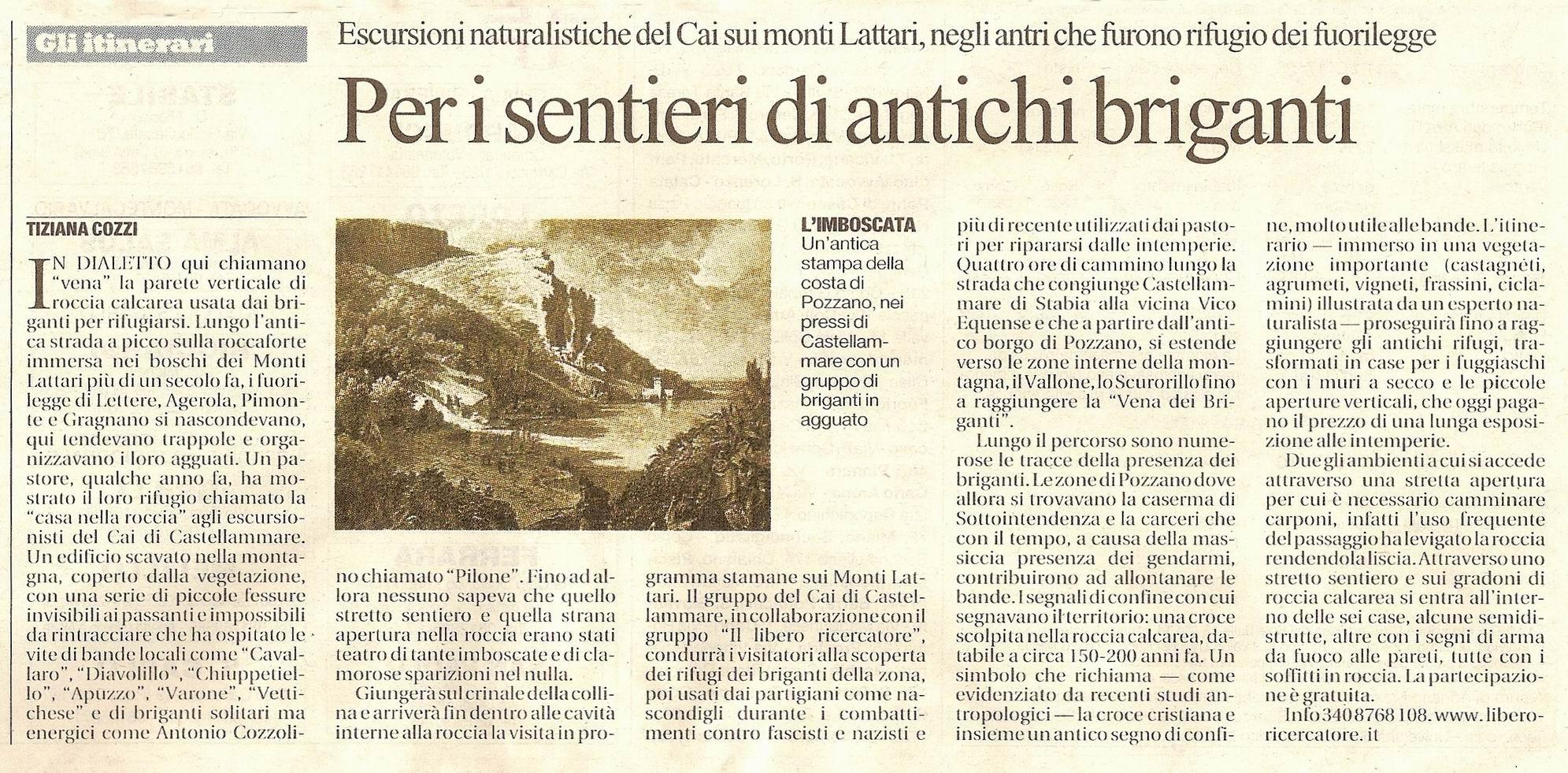 La Repubblica - Tiziana Cozzi (6 aprile 2008)